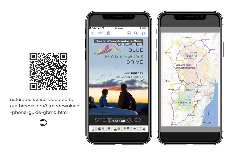 greater blue mountains trail smartphone guide