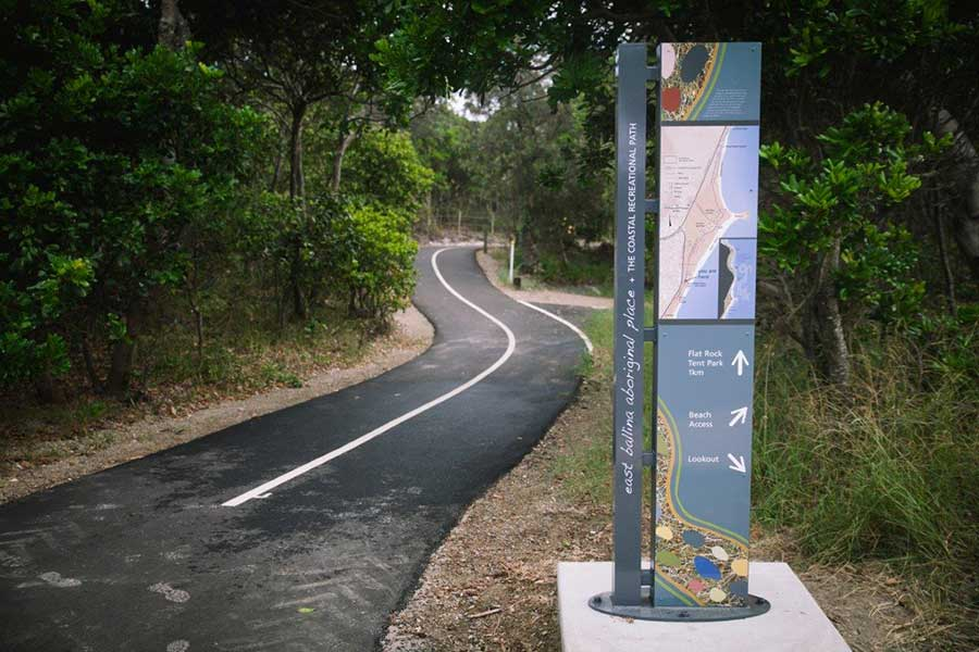 coastal recreational path picture