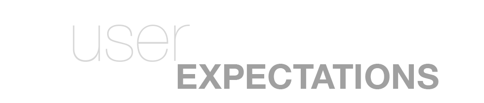 user expectations header
