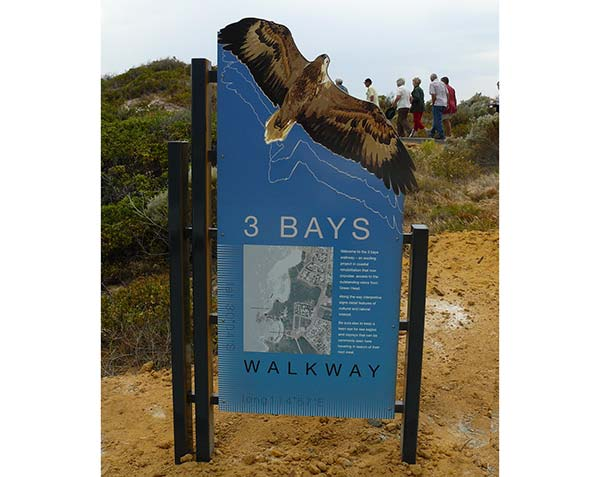 Three Bays orientation / entry sign